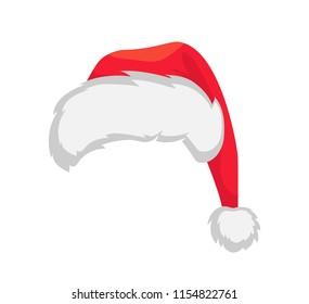 Santa Claus hat. Red santa hat vector illustration