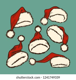 3f05c38c Santa Claus hats easy to use, with top and bottom parts separated, ready to