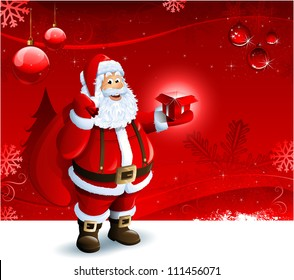 santa claus background images stock photos vectors shutterstock https www shutterstock com image vector santa claus holding gift box on 111456071