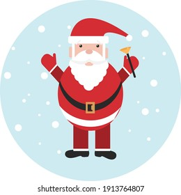 Santa Claus, illustration, vector on a white background.