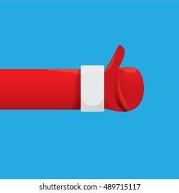 Santa Claus like icon vector illustration. thumbs up santa symbol.