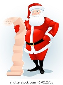 Santa Claus with list.