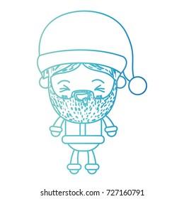 Santa Claus Man Kawaii Full Body Stock Vector Royalty Free