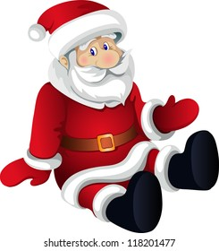 Santa Claus on the white background