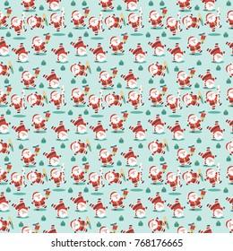 Santa Claus pattern vector