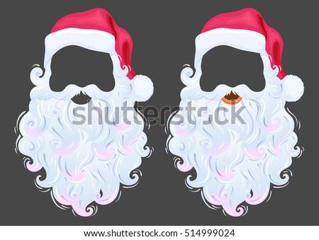 dc1982bf074 Santa Claus Photo Props Face Beard Stock Vector (Royalty Free ...