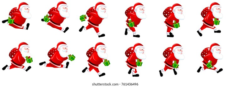 Santa Claus Run cycle spritesheet
