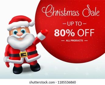 Santa Claus Sales Banner Design - Holiday Greeting