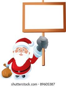 Santa Claus shows advertising space