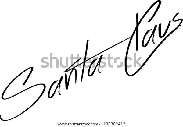Amazon.com : Love Santa Signature Stamp : Office Products