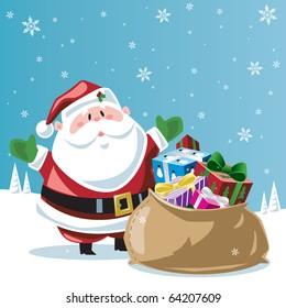 Santa Claus & toy bag