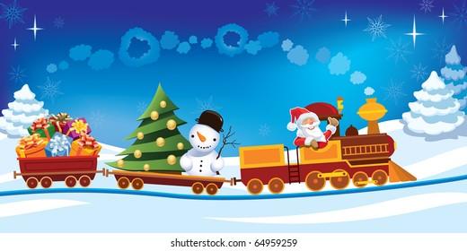 Santa Train Images Stock Photos Vectors Shutterstock