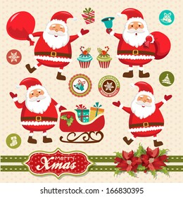 Santa Claus vector illustration collection