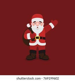 Santa Claus Vector Merry Christmas Illustration
