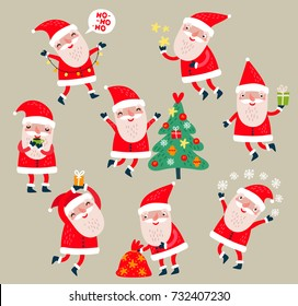 Santa Claus vector set