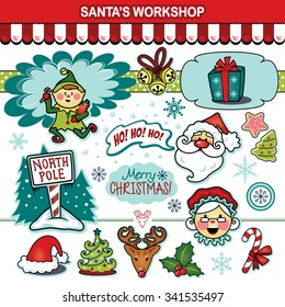 Santa Claus workshop Christmas holiday collection