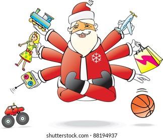 Santa Claus and yoga