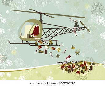 Santa Claus's helicopter