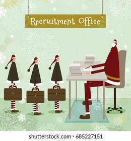 Santa Claus's recruitment office