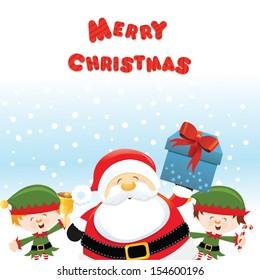 Santa With Elves