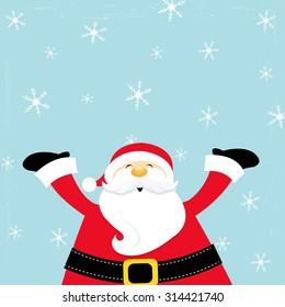 Santa Enjoying Snow