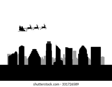 santa flying city by the City of Austin