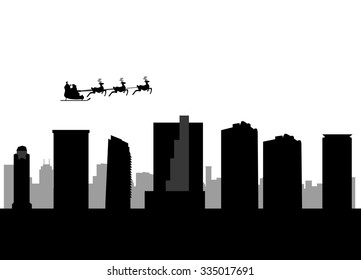 santa flying city of Fort Worth