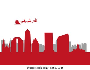 santa flying city of jacksonville
