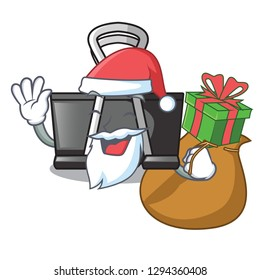 Santa with gift binder clip for charcter on documents