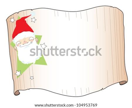 Santa Gift Tag Stock Vector Royalty Free 104953769 Shutterstock