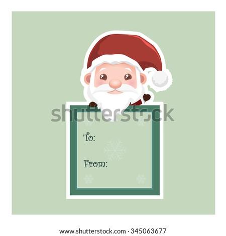 Santa Gift Tag Stock Vector Royalty Free 345063677 Shutterstock