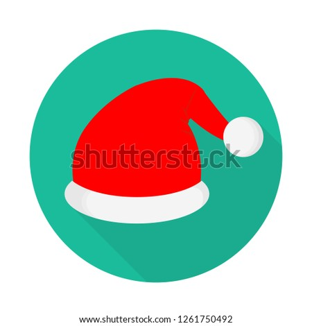 518df116de0a8 Santa Hat Icon Flat Style Long Stock Vector (Royalty Free ...