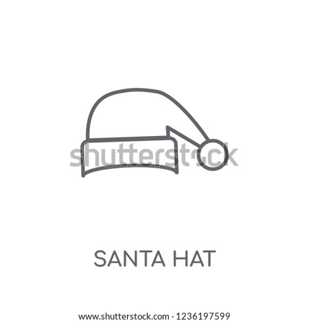 c43582485d631 Santa hat linear icon. Modern outline Santa hat logo concept on white  background from Christmas