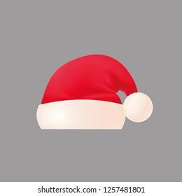 Santa hat on a dark background.