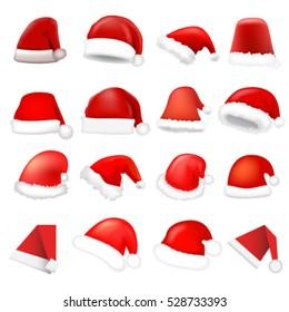 Santa hat set. Vector