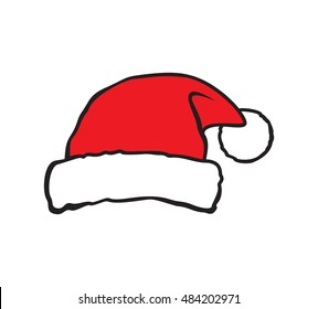Santa hat vector illustration