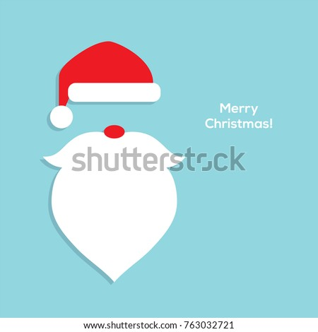ab7c95524a5 Santa Head Flat Icon Red Hat Stock Vector (Royalty Free) 763032721 ...