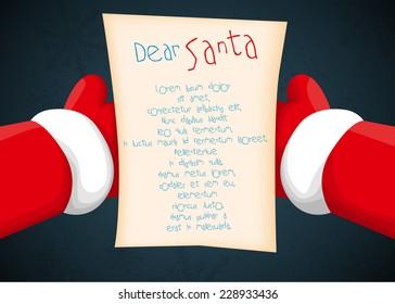 Santa holding a letter
