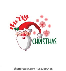 Santa Merry Christmas SVG | DXF is perfect for crafts, for cutting machine, for t-shirt, for printing, for walls, for diy or any project design you have in mind.
