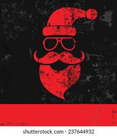 Santa on old background,grunge vector