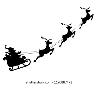 santa on reindeer christmas clip art