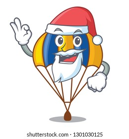 Santa parachute in shape of acartoon fuuny