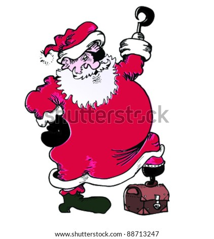 076c1949b0ae2 Santa Pirate Stock Vector (Royalty Free) 88713247 - Shutterstock