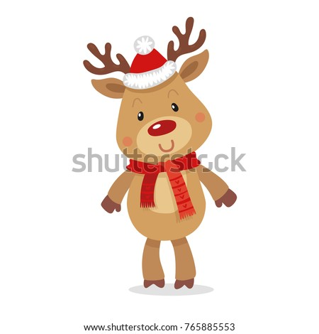 1b1a415fb38c6 Santa s Reindeer Rudolph. Vector illustrations of Reindeer Rudolf Isolated  on White Background.