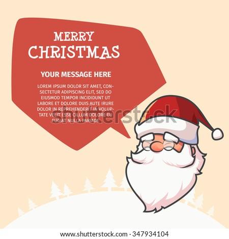Santa Say Merry Christmas Stock Vector (Royalty Free) 347934104 ...