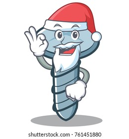 Santa screw character cartoon style