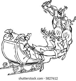 Santa and Sled