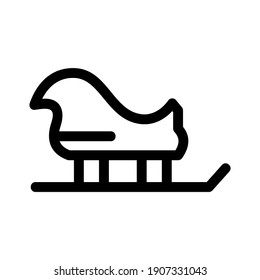 santa sleigh icon or logo isolated sign symbol vector illustration - high quality black style vector icons