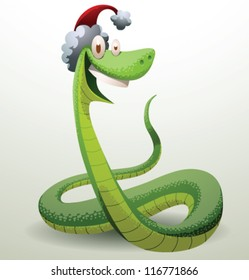 Santa snake 02, vector