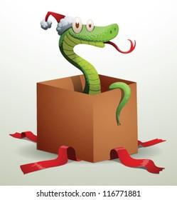 Santa snake 05, vector